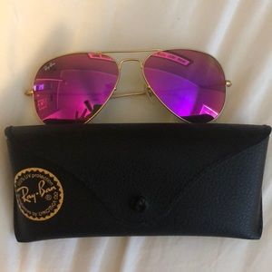 Pink lenses Ray Bans